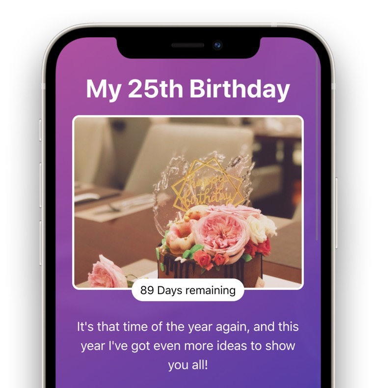 Creating a wish list on giftwhale on the iPhone or mobile